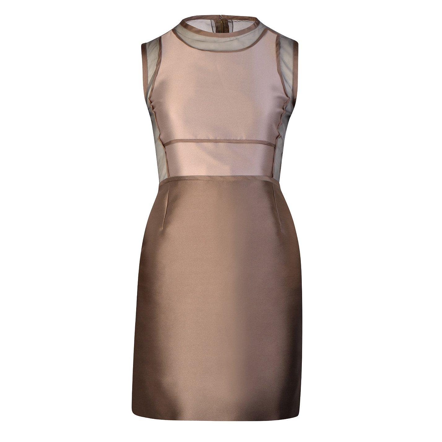 Victoria, Victoria Beckham Sheer Bodice Mini Dress