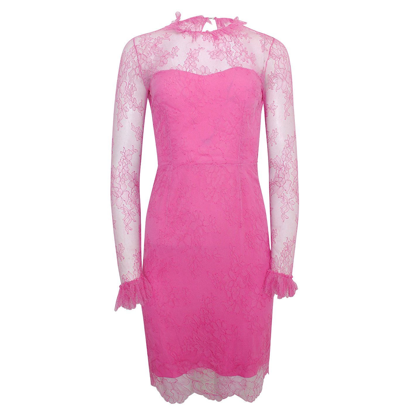 Emilio De La Morena Lace Dress With Ruffle Trim