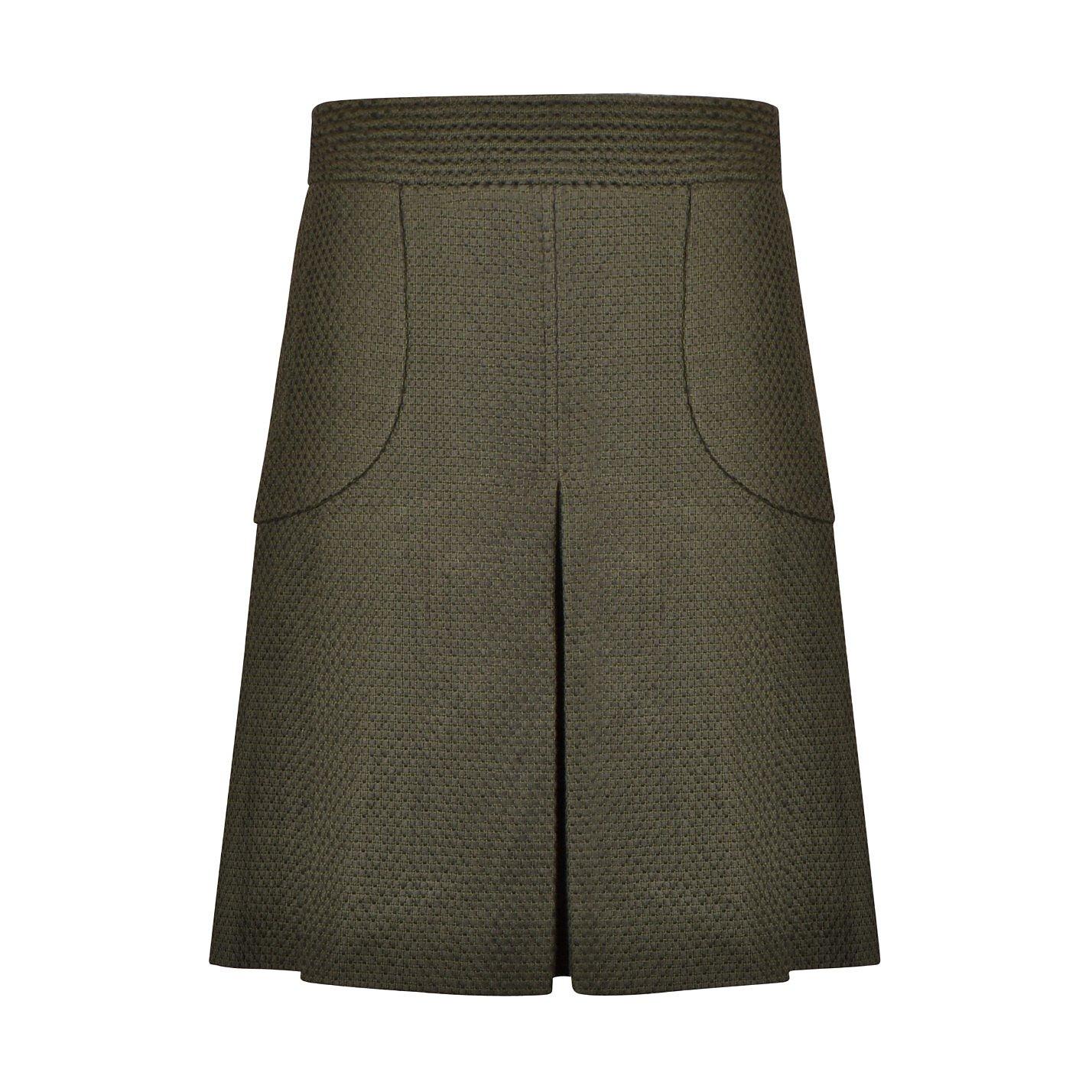 CHANEL Textured Cotton Skirt