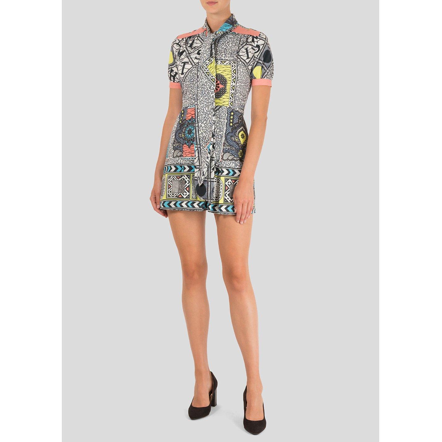 Matthew Williamson Geometric Mini Dress