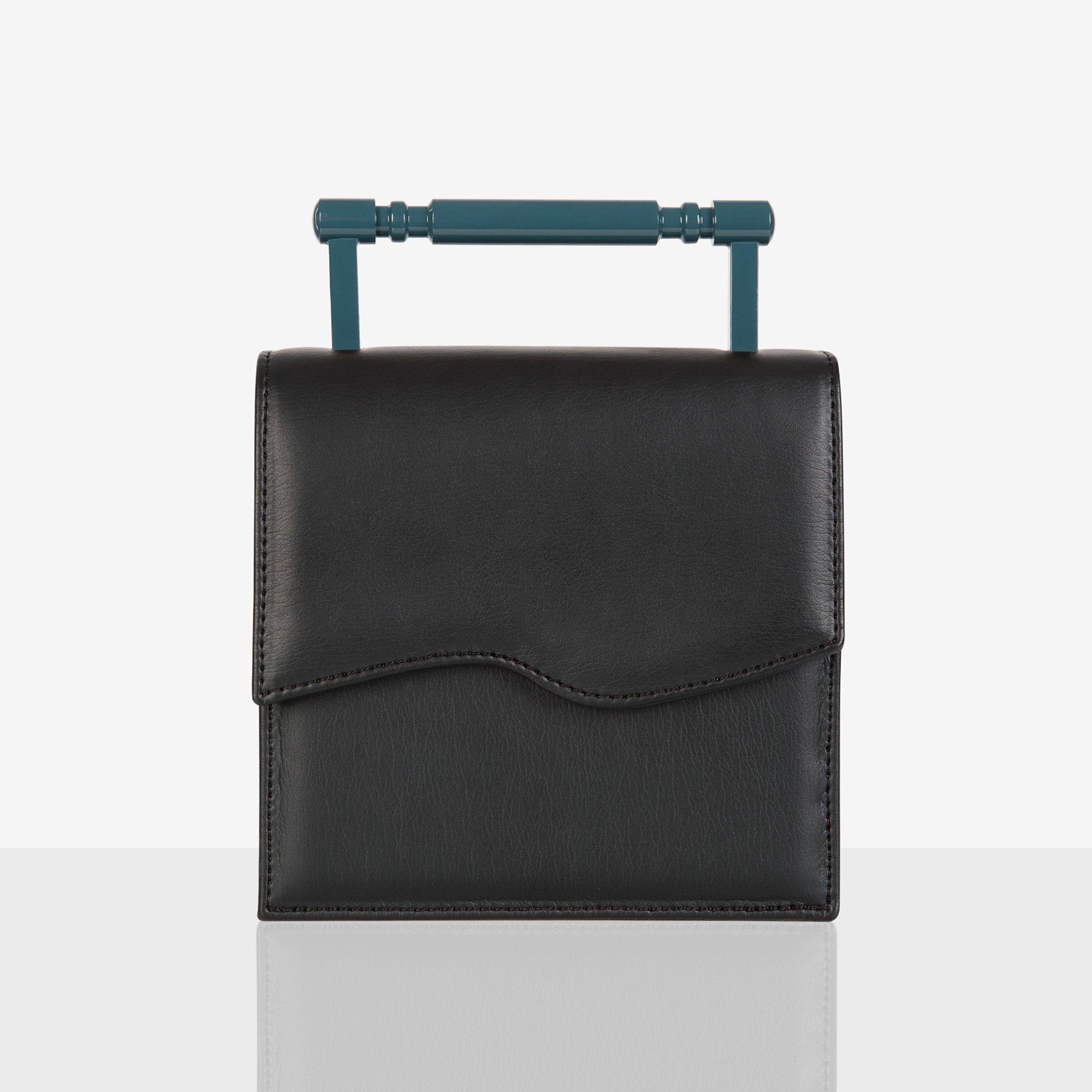 Mashu Iris Black And Blue Bag
