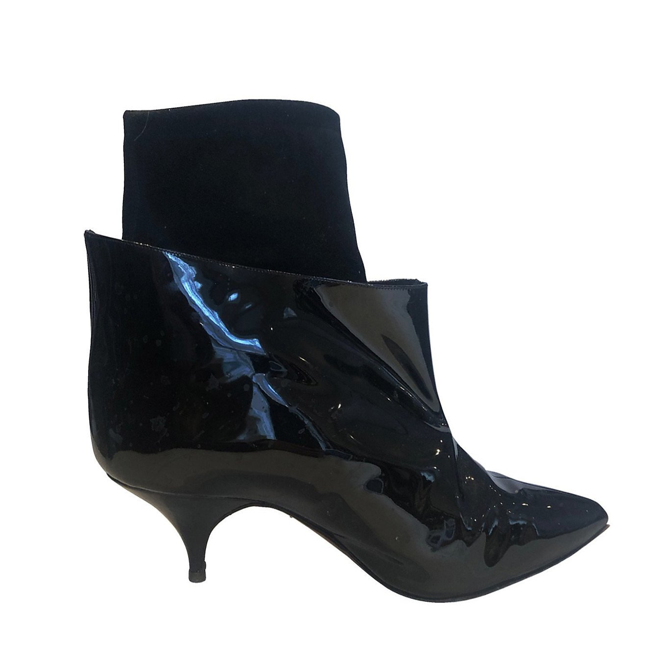 Manolo Blahnik Patent Leather Ankle Boots