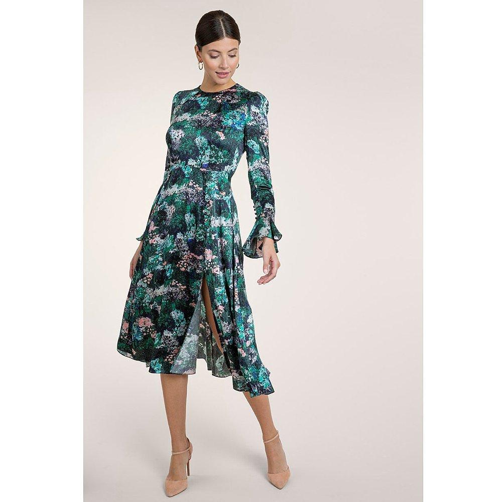 Beulah Yahvi Painterly Forest Rose Dress