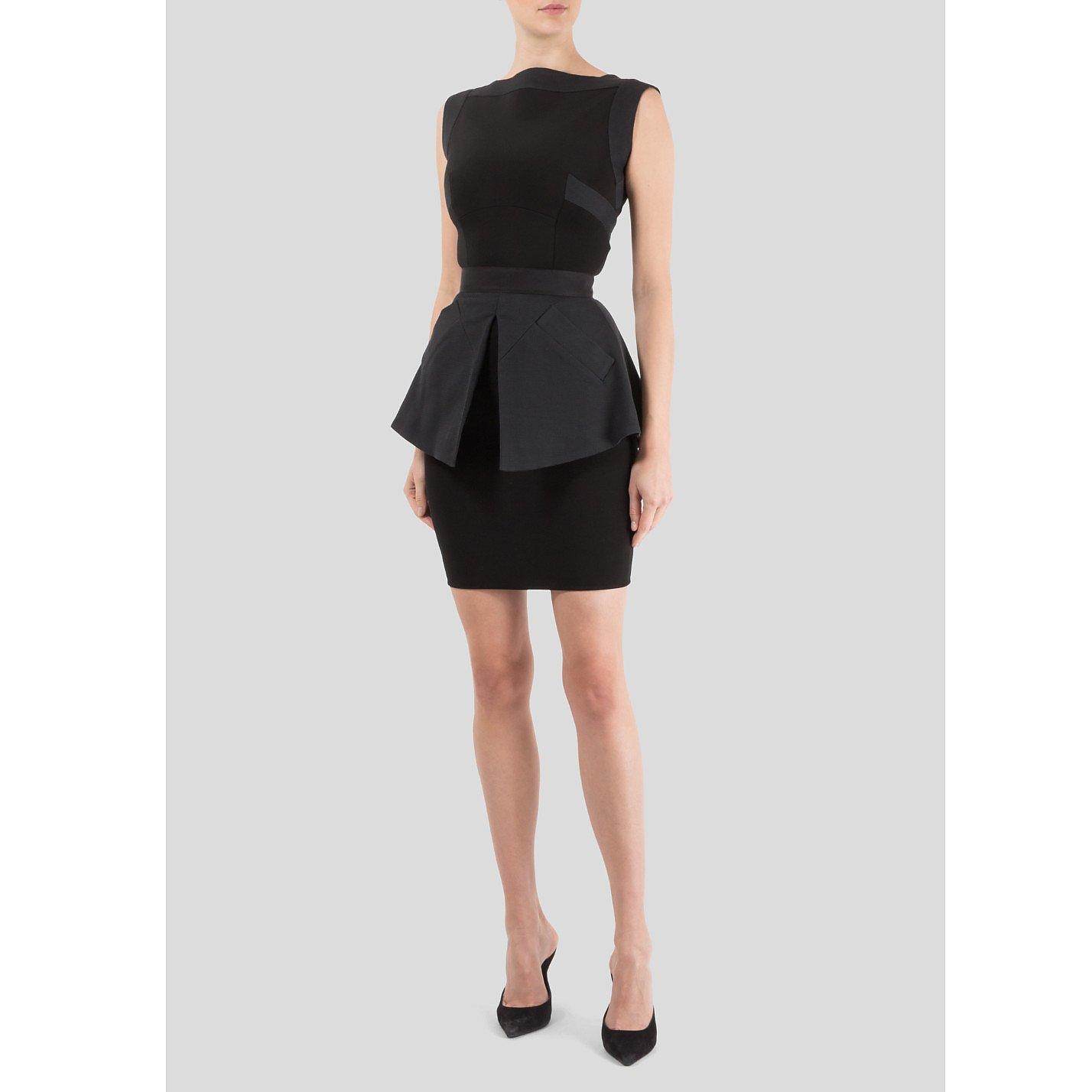 Victoria Beckham Sleeveless Fitted Dress with Peplum Skirt