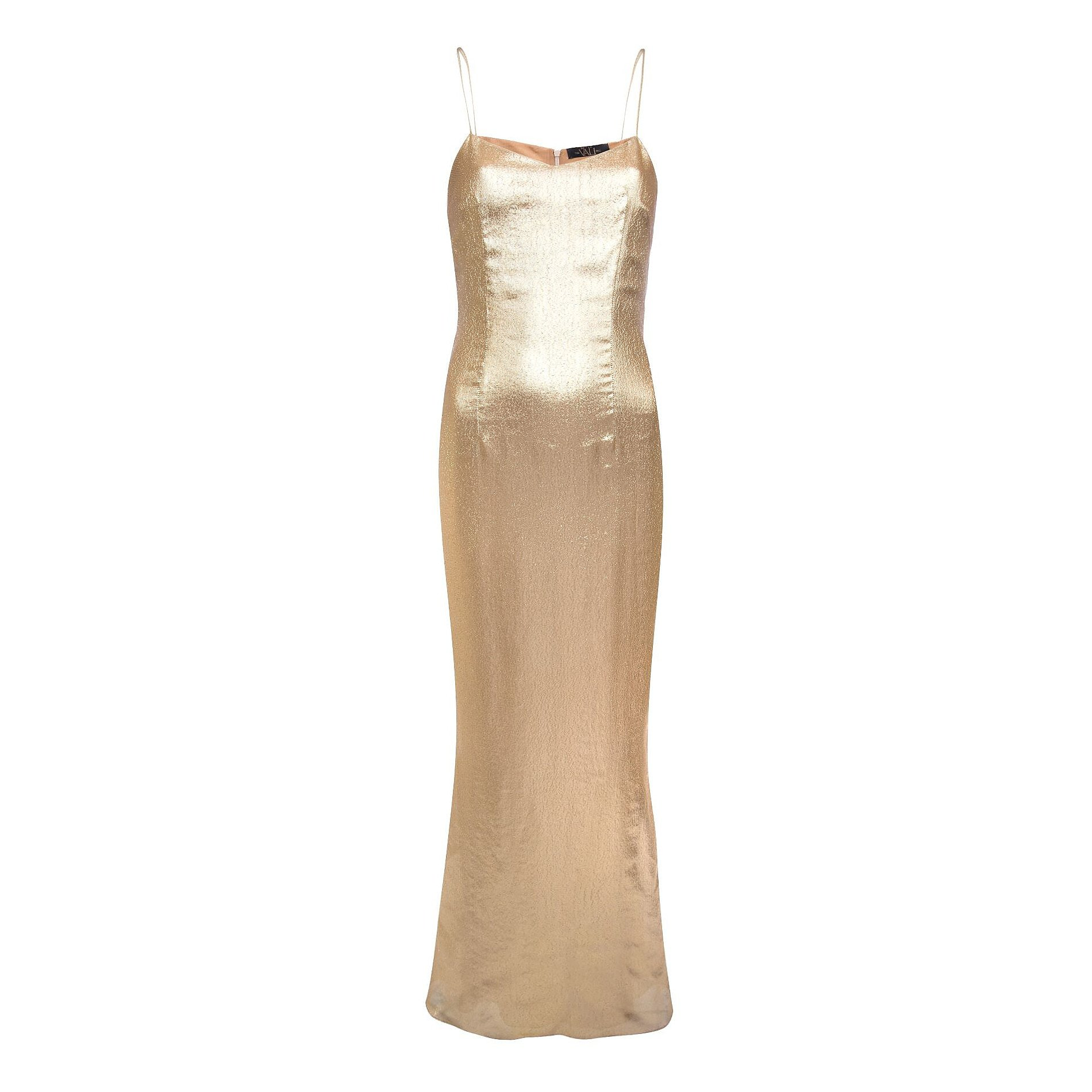 De La Vali Pepe Gold Lurex Dress