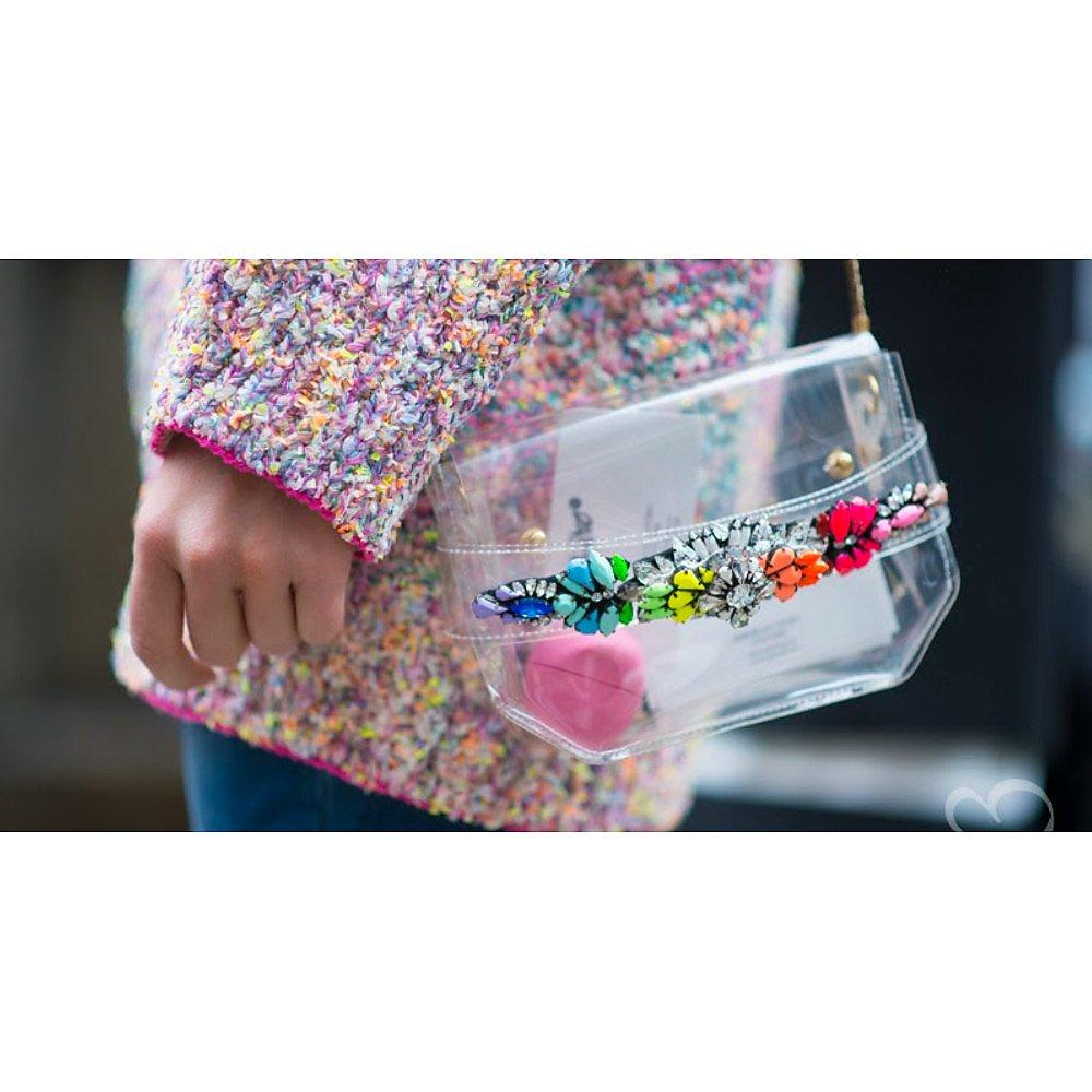 Shourouk Transparent Embellished Shoulder Bag