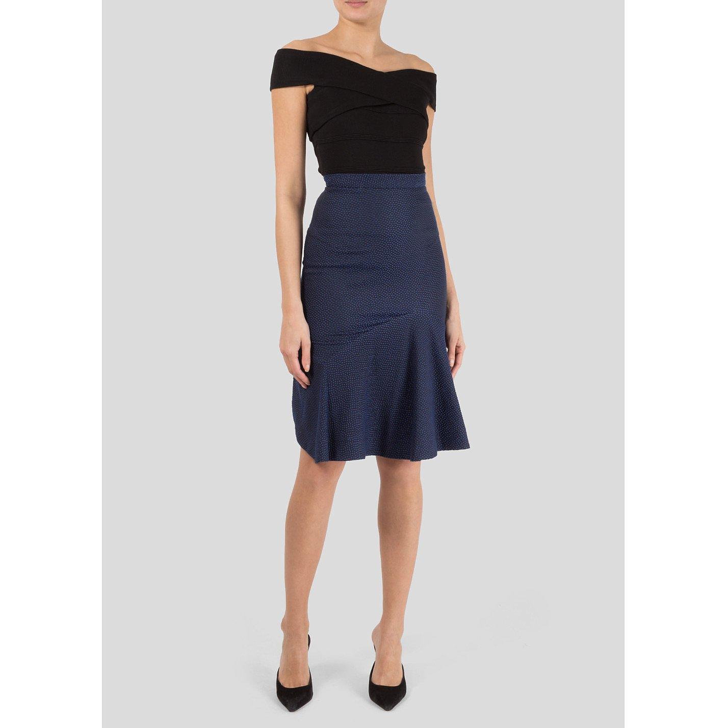 Roland Mouret High Waist Skirt with Fishtail Hem