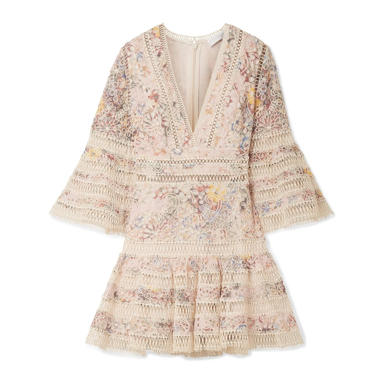 ZIMMERMANN Lovelorn Embroidered Mini Dress