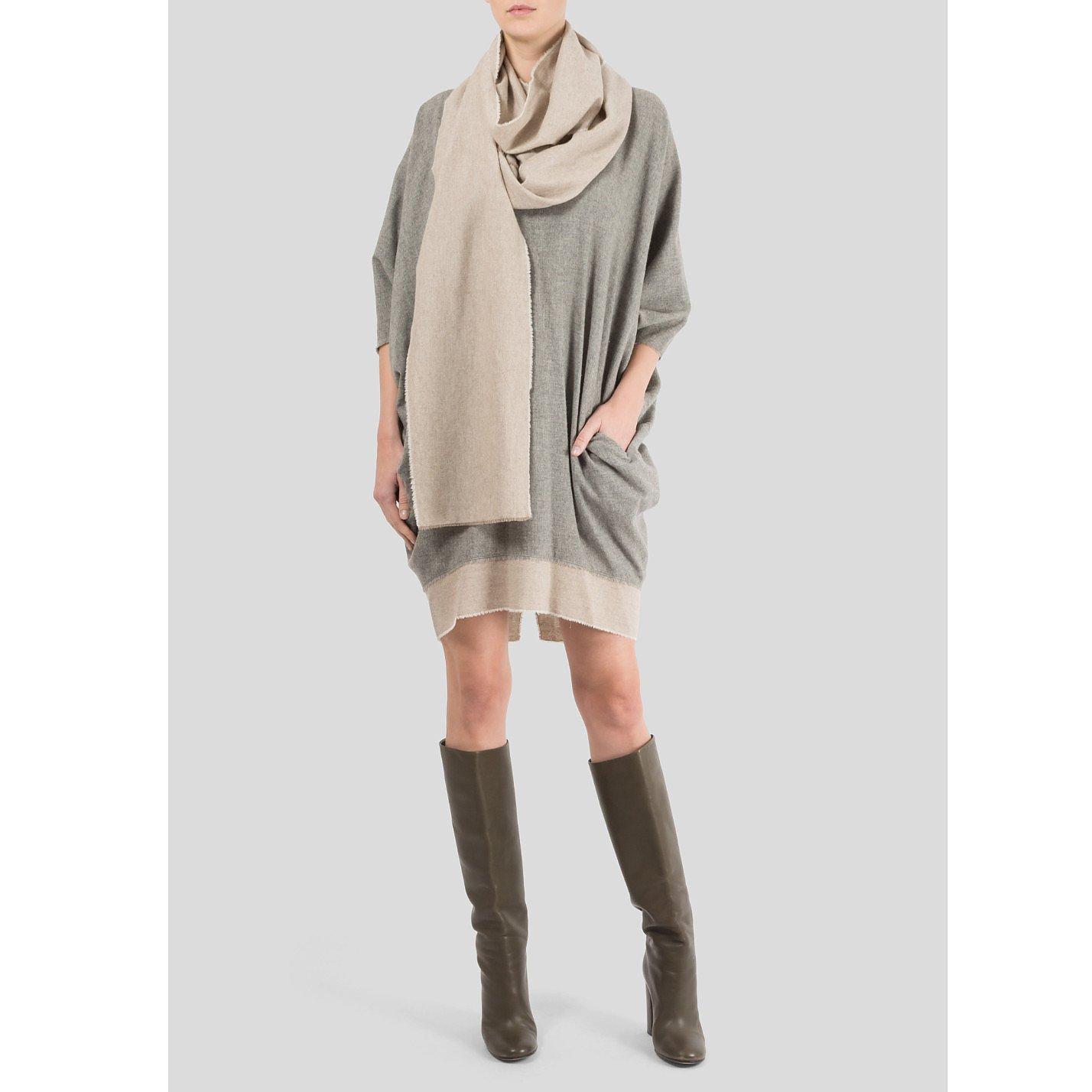Victoria Beckham Sweater Dress With Scarf
