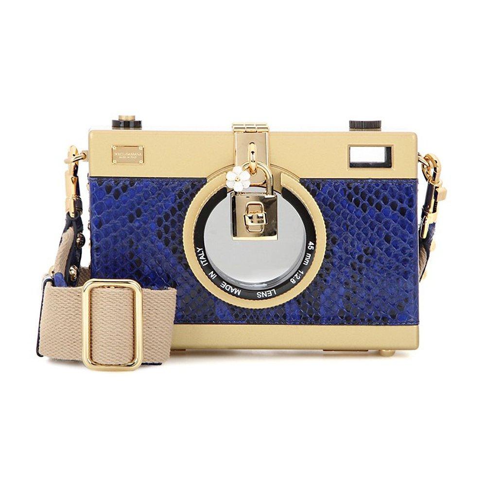 DOLCE & GABBANA Python Camera Case Bag