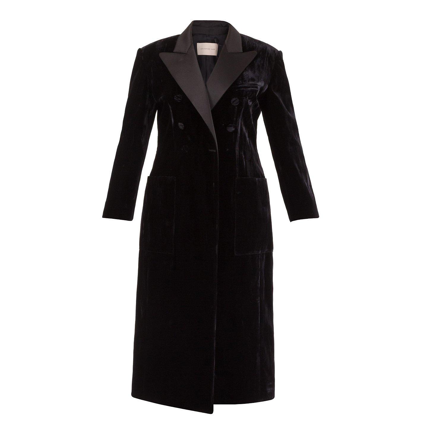 Christopher Kane Double Breasted Velvet Coat
