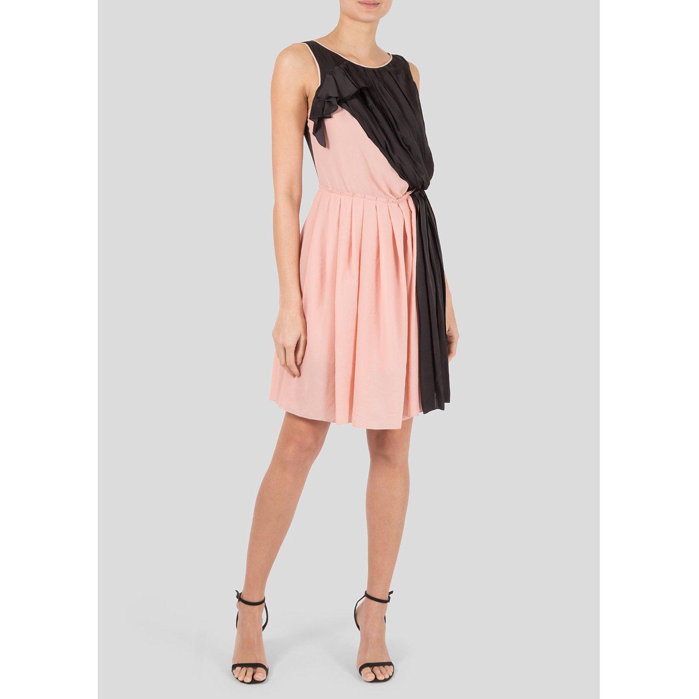 Nina Ricci Two-Tone Draped Dress