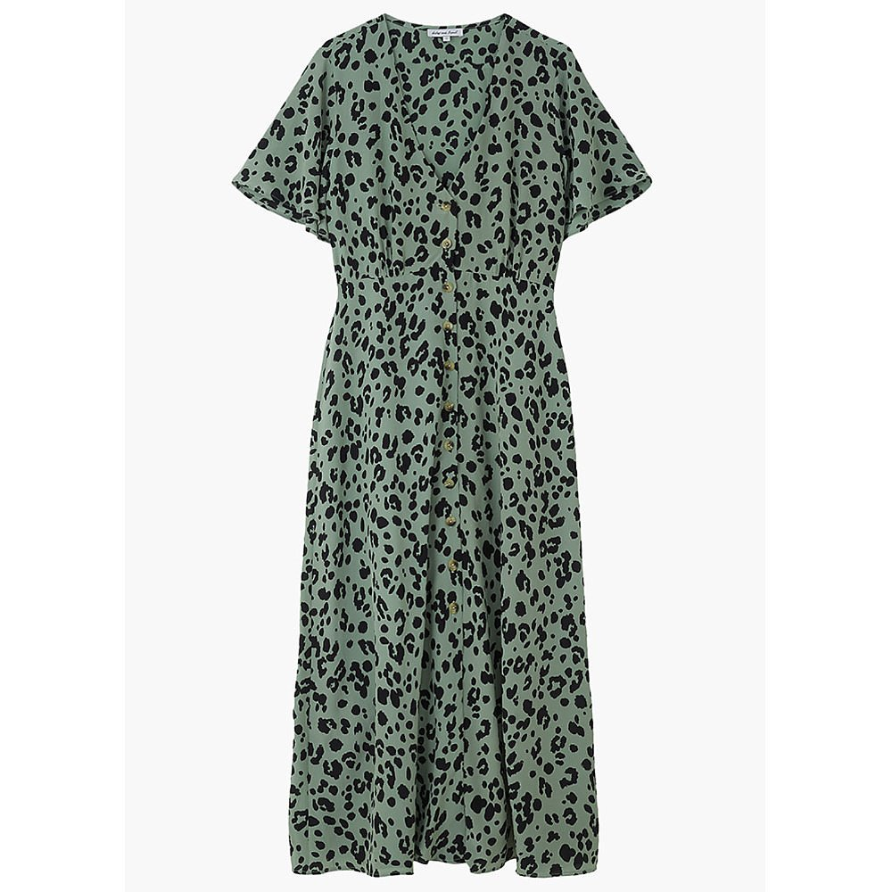 Lily and Lionel Lola Dress Sage Leopard