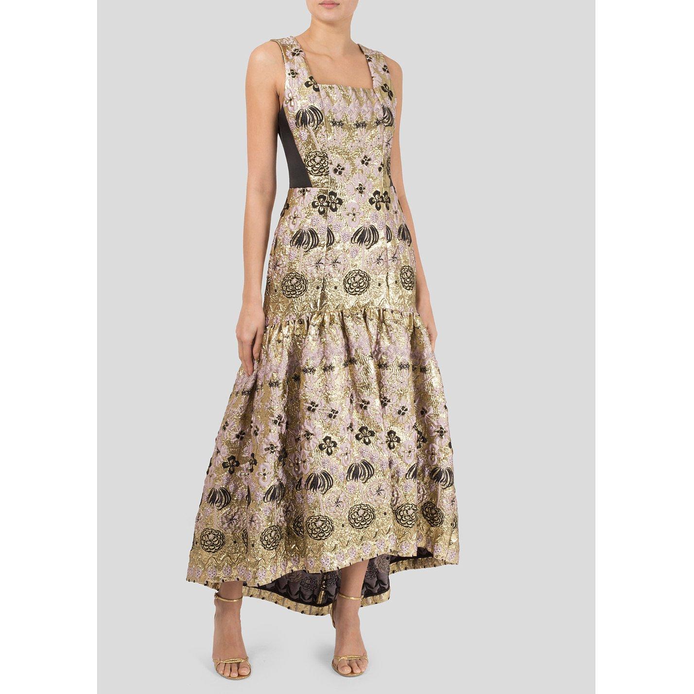 Temperley London Tower Jacquard Long Dress