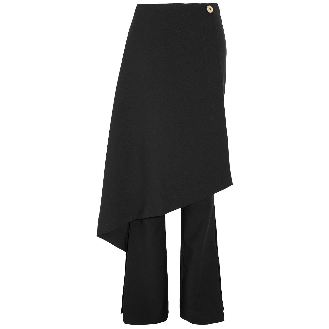 Solace London Sydney Layered Crepe Flared Trousers