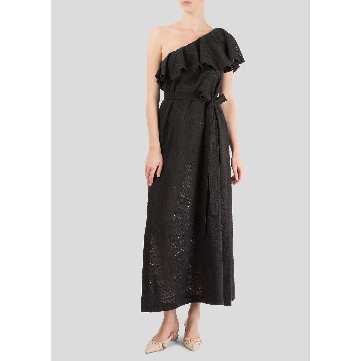 Lisa Marie Fernandez Arden Ruffled Shoulder Dress