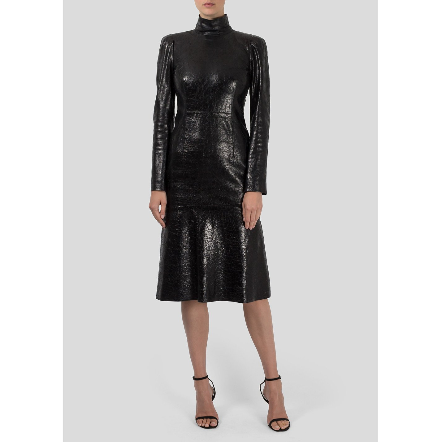 Gucci Leather Polo Neck Dress
