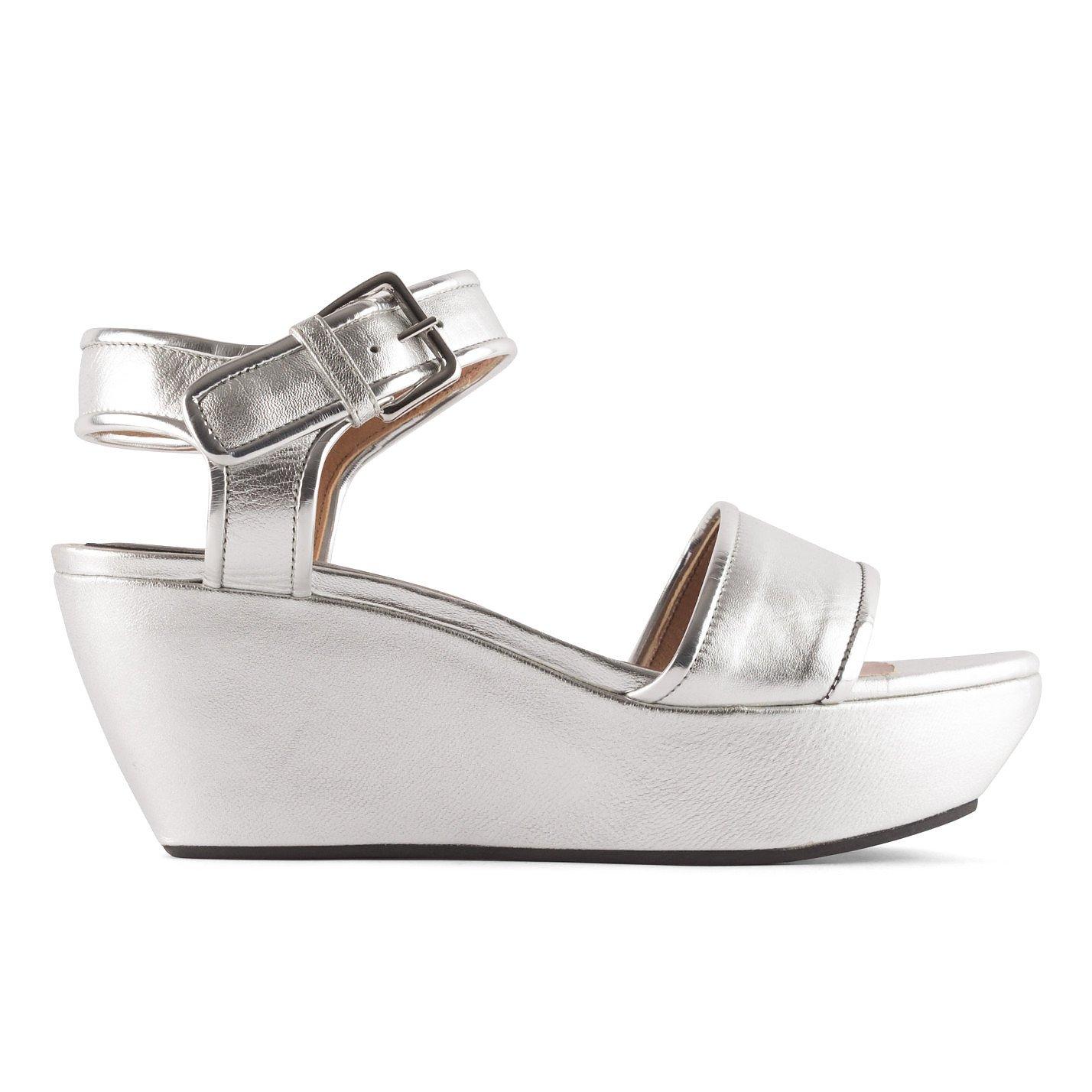 Marni Metallic Platform Wedge Sandals