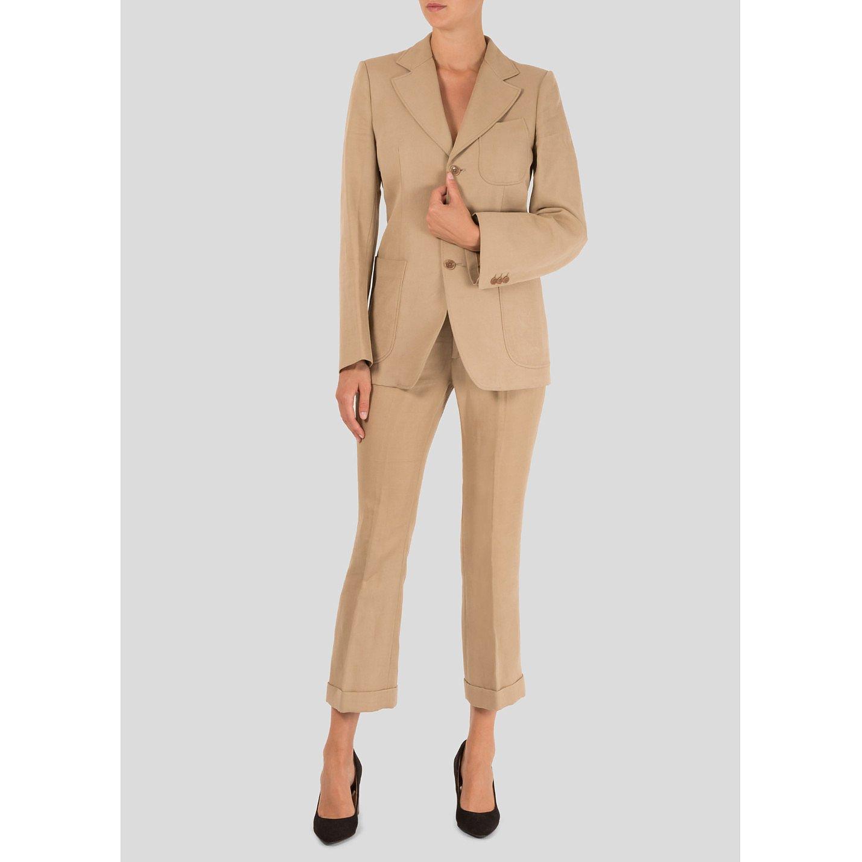 Joseph Cotton-Blend Trouser Suit