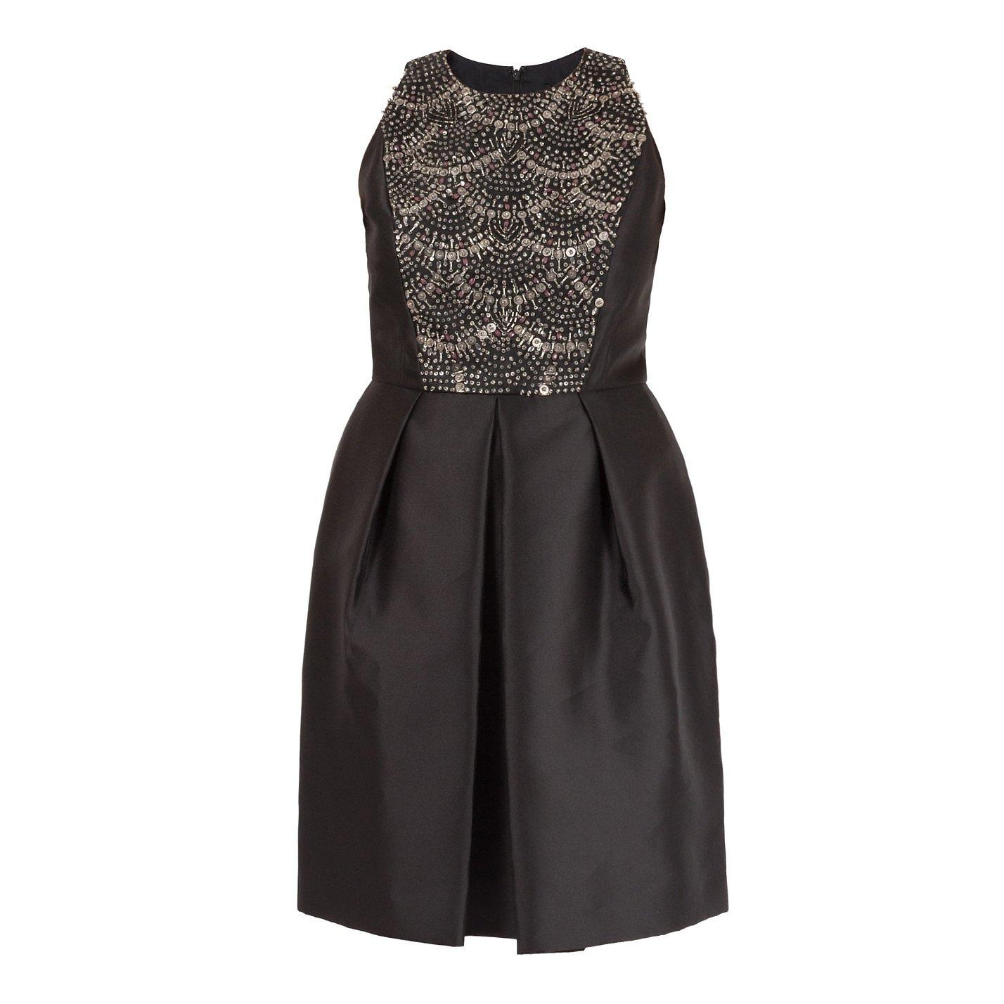 Carmen Marc Valvo Embellished Sleeveless Dress