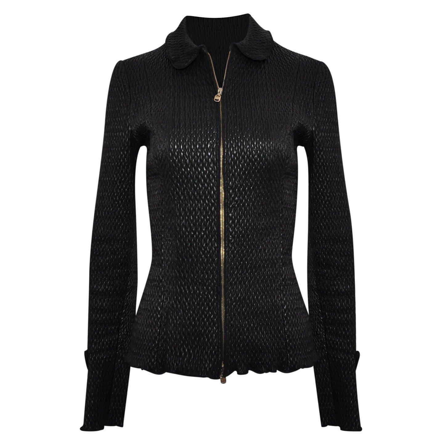 Salvatore Ferragamo Woven Leather Jacket