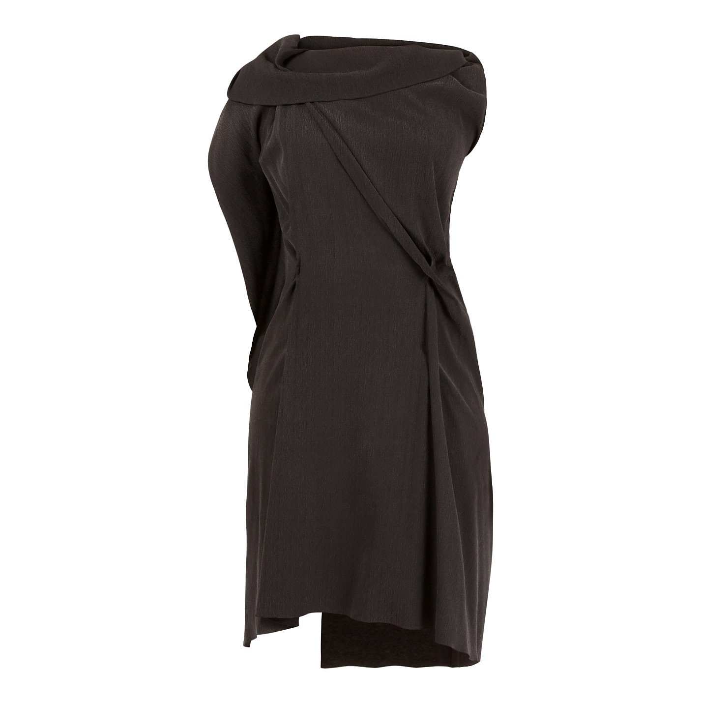 RM by Roland Mouret Draped Silk Crepe Dress