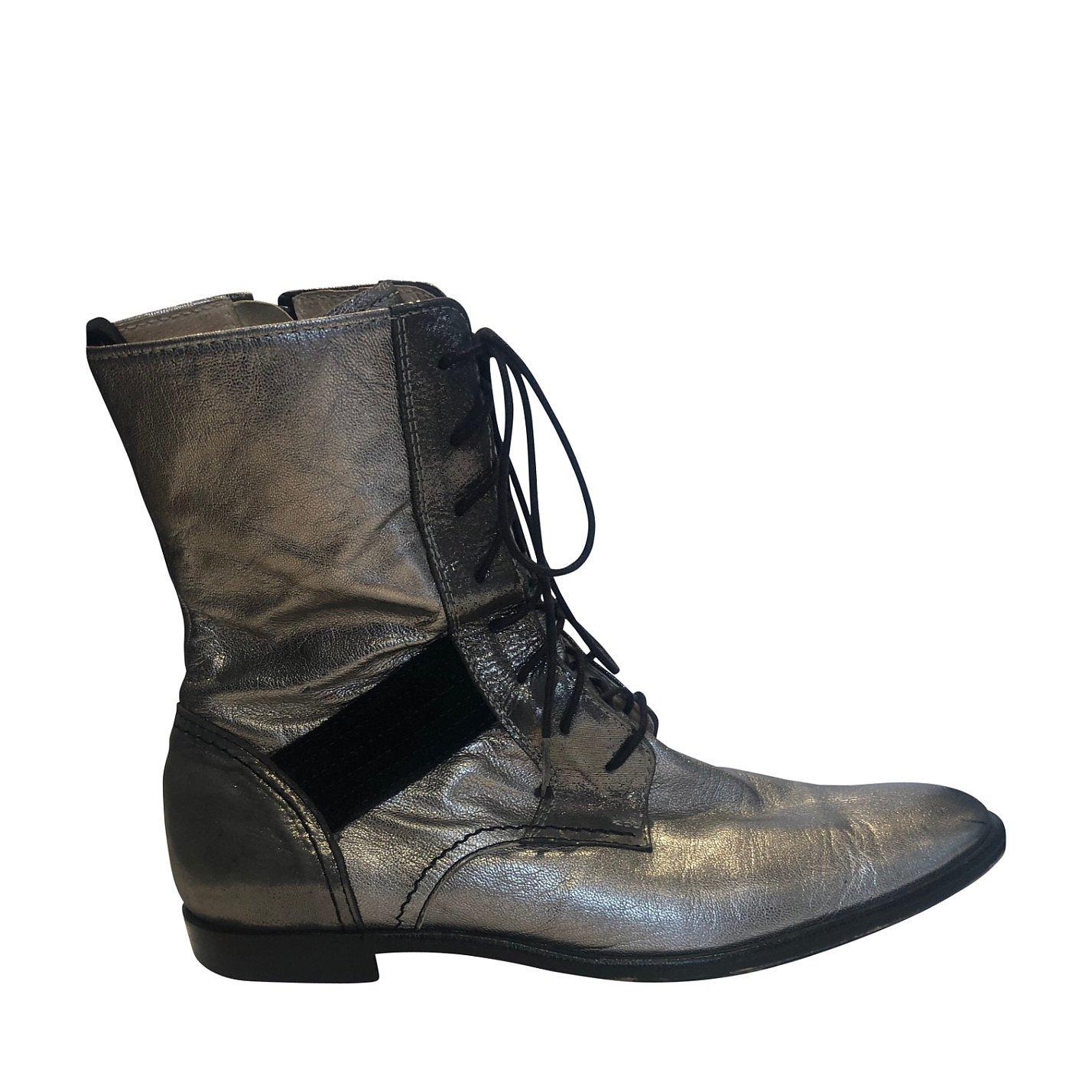 Yohji Yamamoto Metallic Ankle Boots
