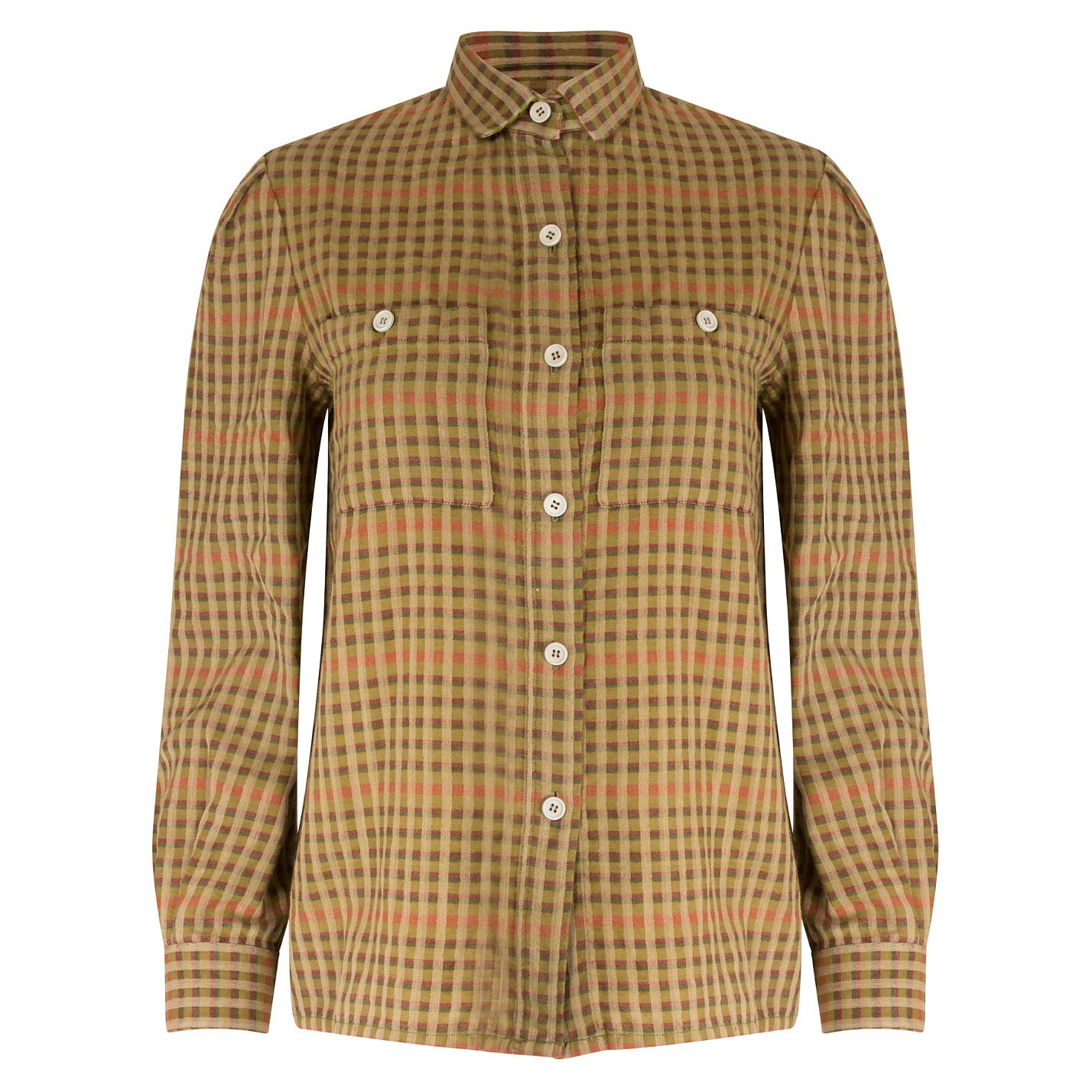 Dior Check Shirt With Shoulder Pads