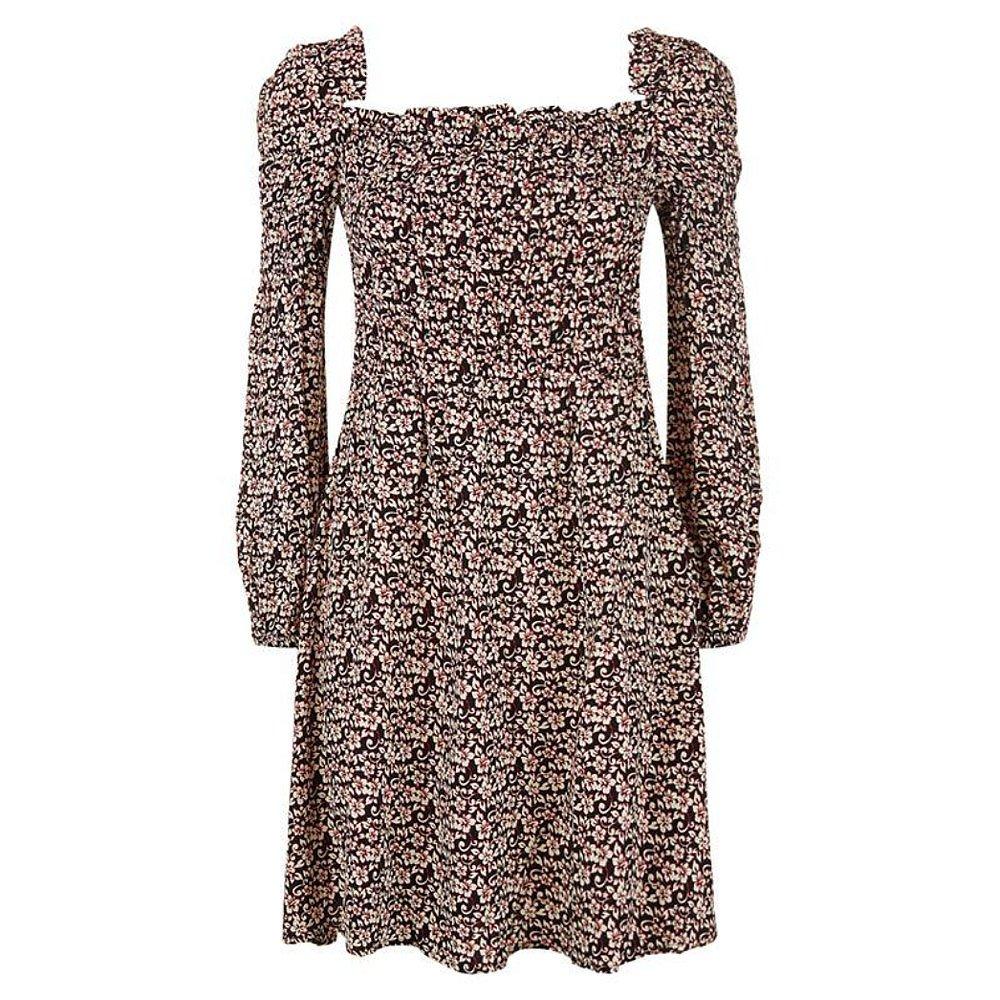 Maje Ranael Bardot Floral Mini Dress