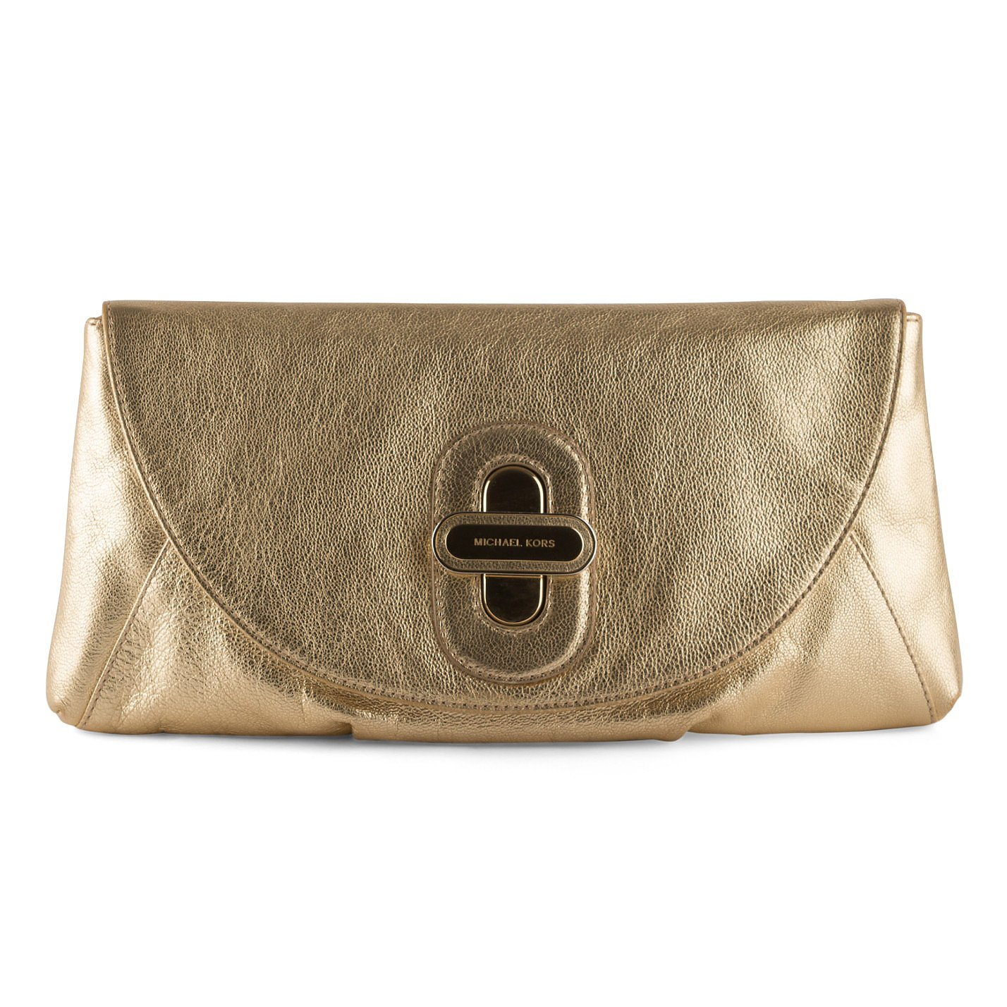 Michael Kors Soft Leather Metallic Clutch