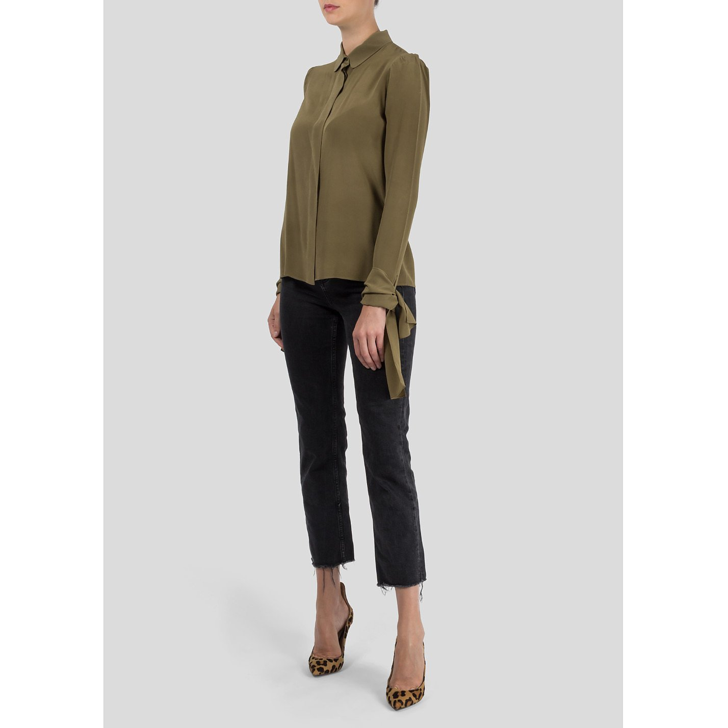 Chloé Blouse with Tie Up Sleeves