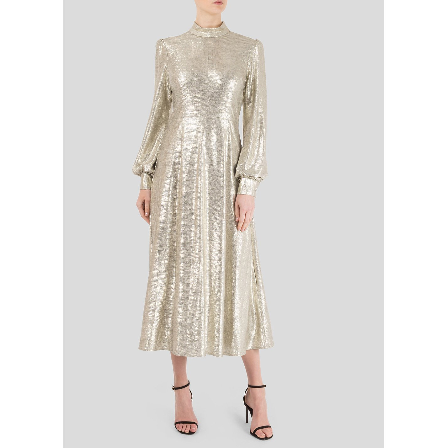 GOAT Goldfinch Foiled-Jersey Midi Dress