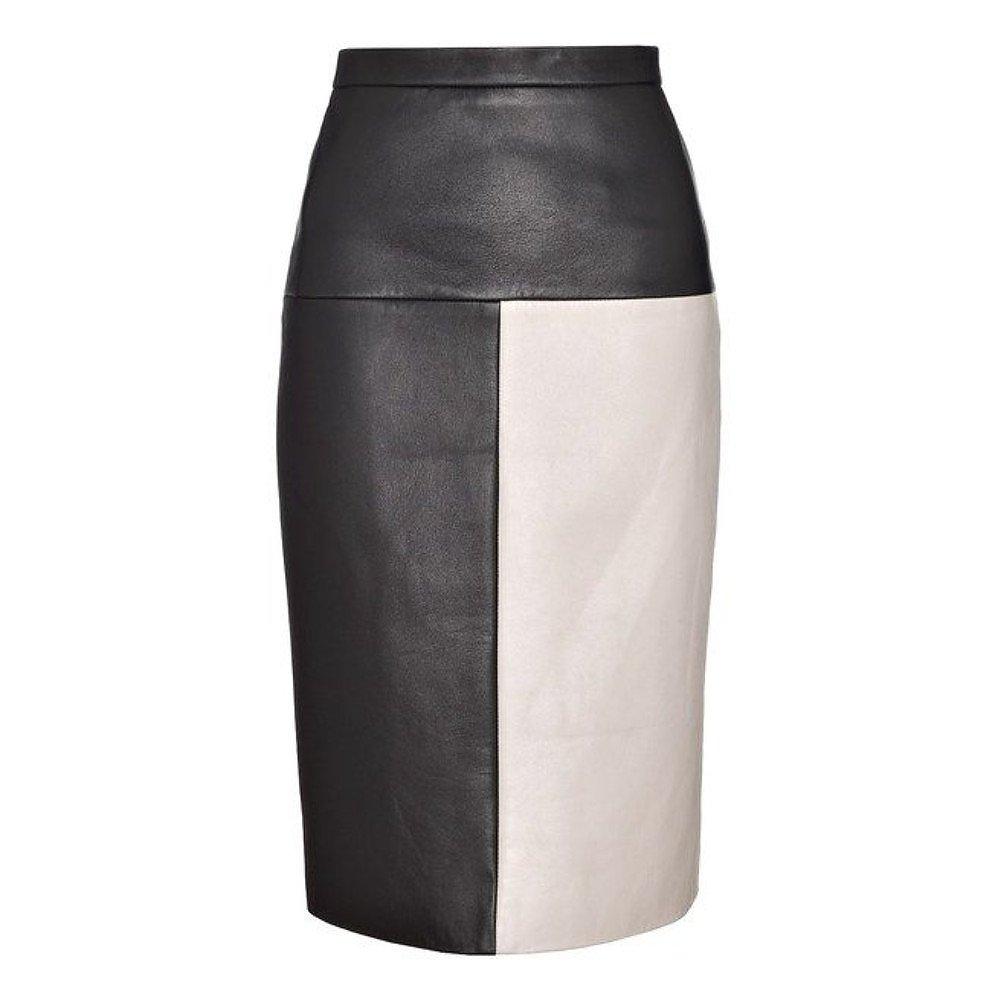 Eudon Choi Leather Pencil Skirt