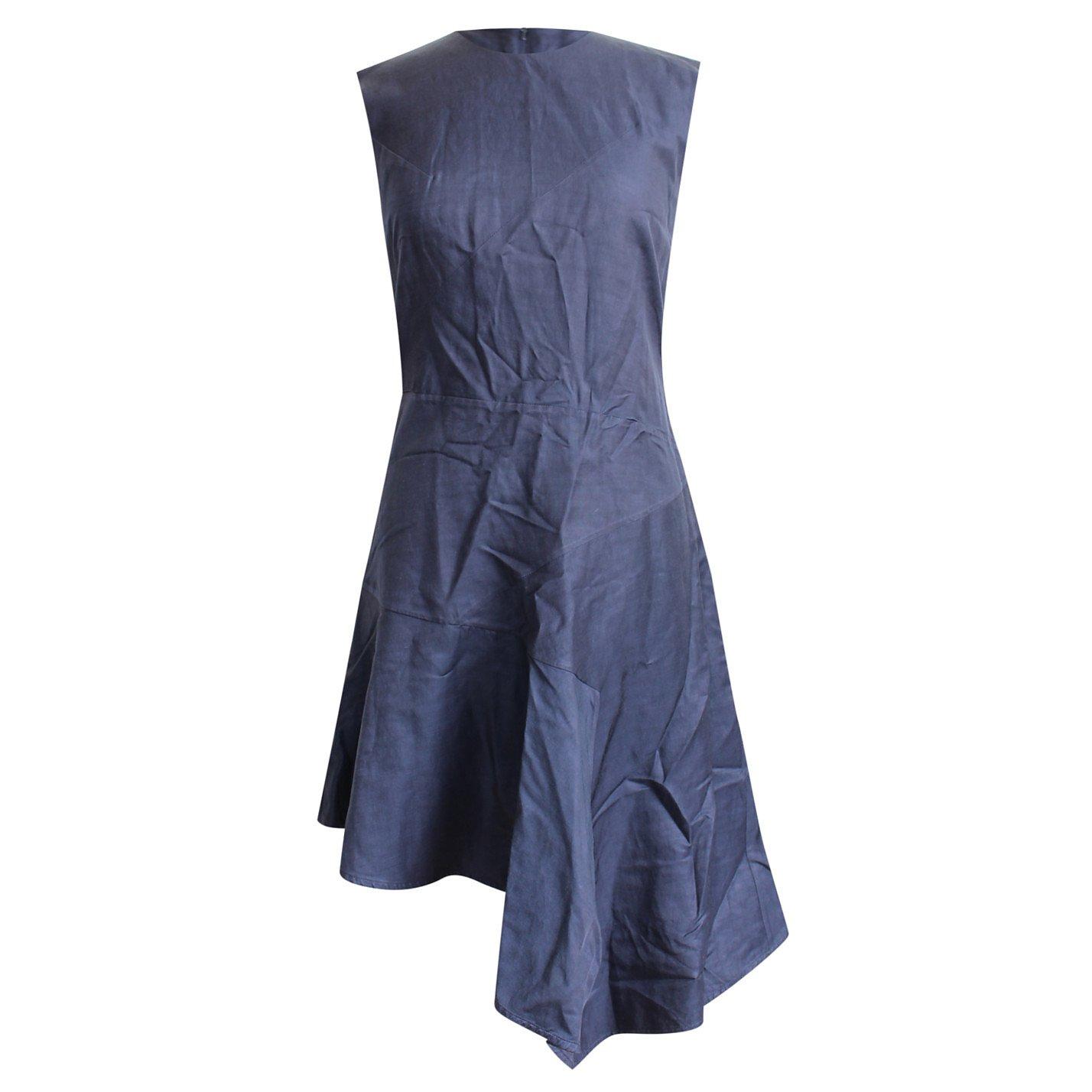 Eudon Choi Eudon Choi Assymetrical Hem Navy Summer Dress