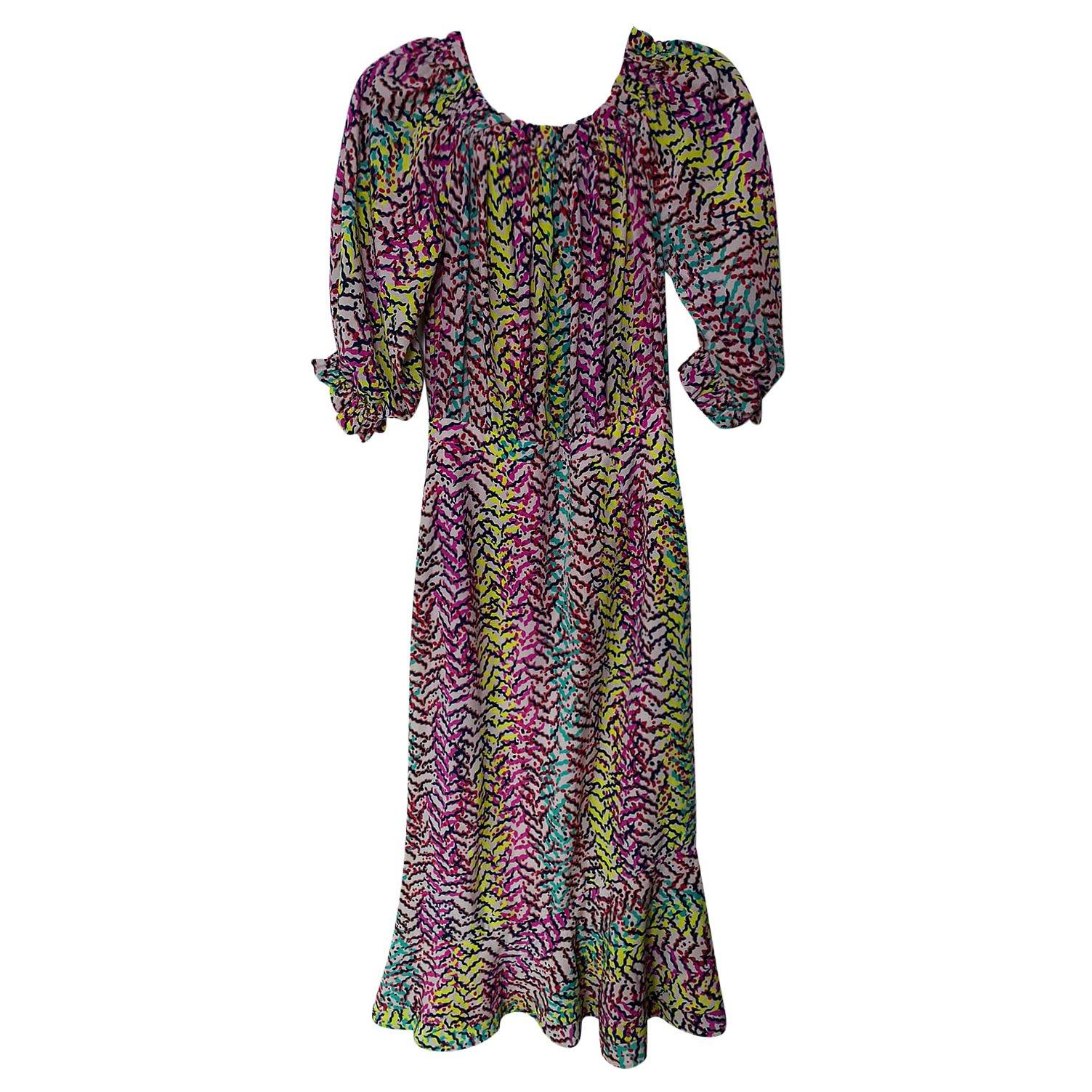 Saloni Print Maxi Dress