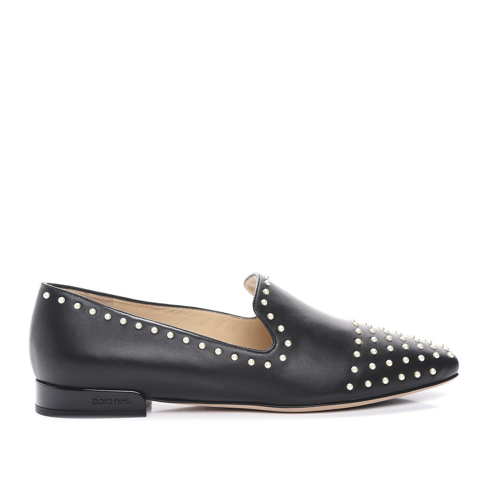 Jimmy Choo Jaida Flat Studded Loafers