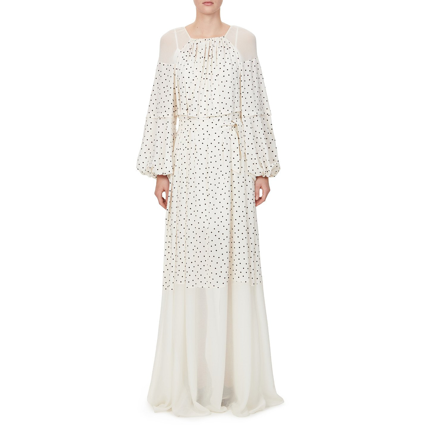 Noon By Noor Wells Gathered Long Dress