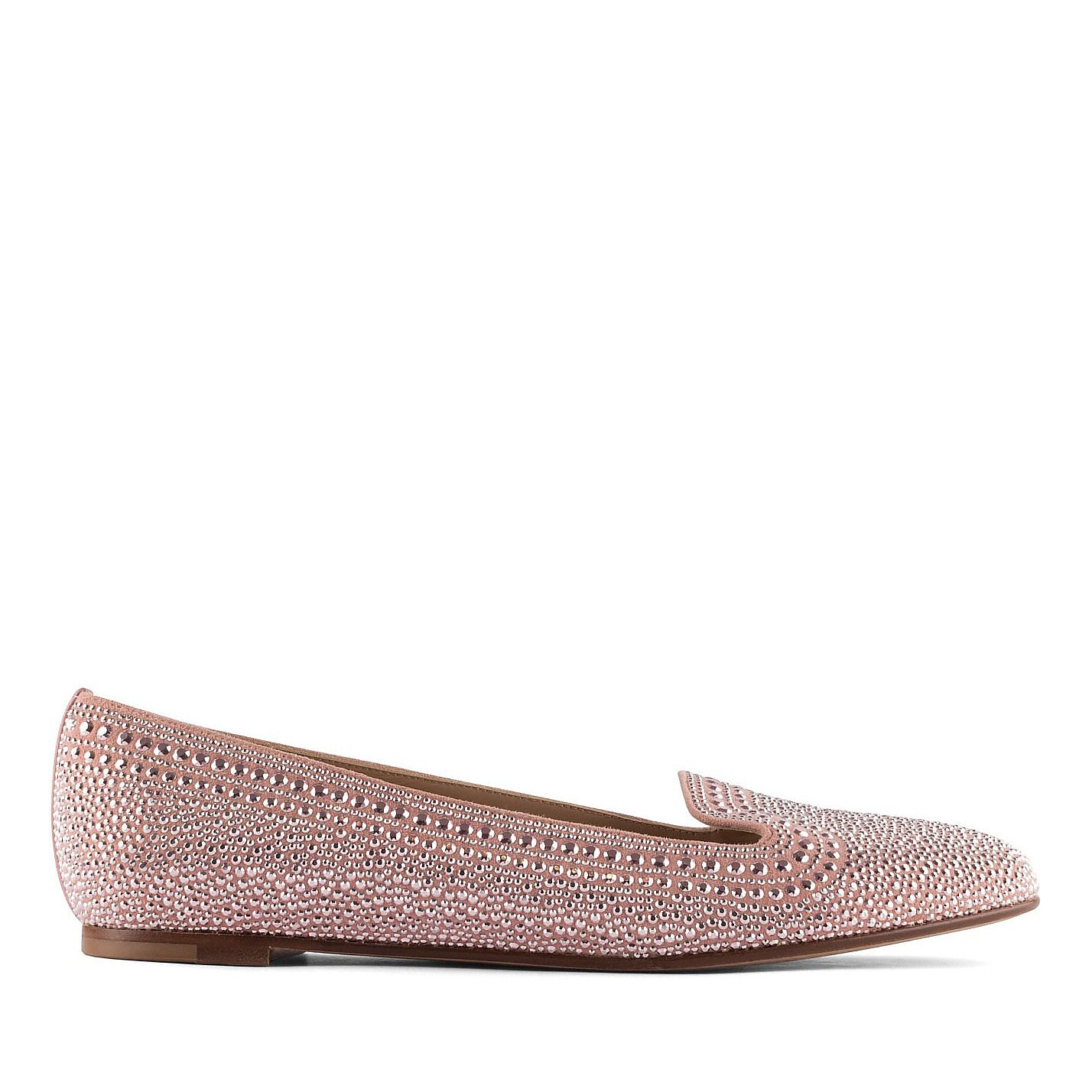Valentino Embellished Suede Loafers