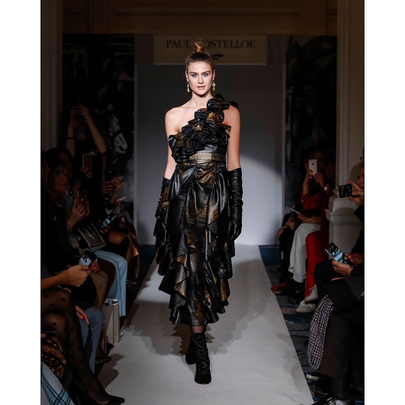 Paul Costelloe One Shoulder Ruffle Dress