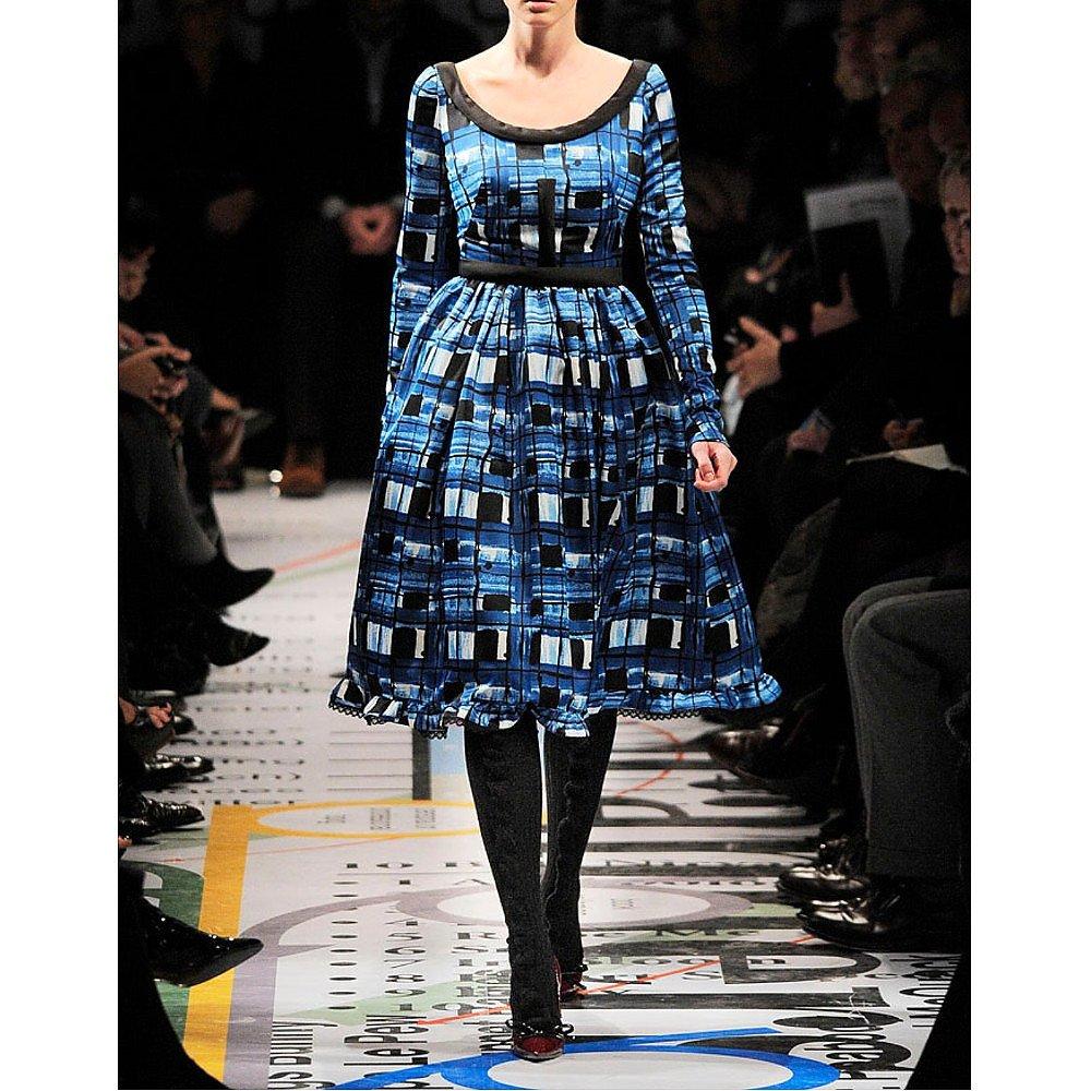 PRADA Silk-Blend Printed Dress
