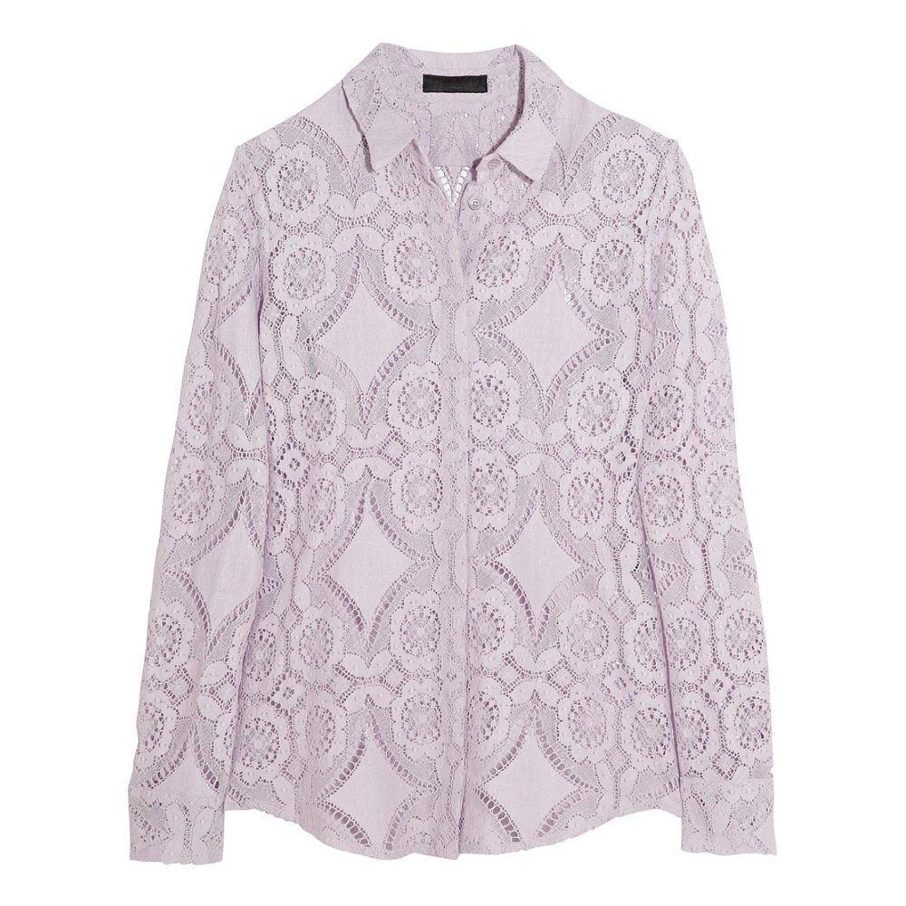 Burberry Cotton-Blend Lace Shirt