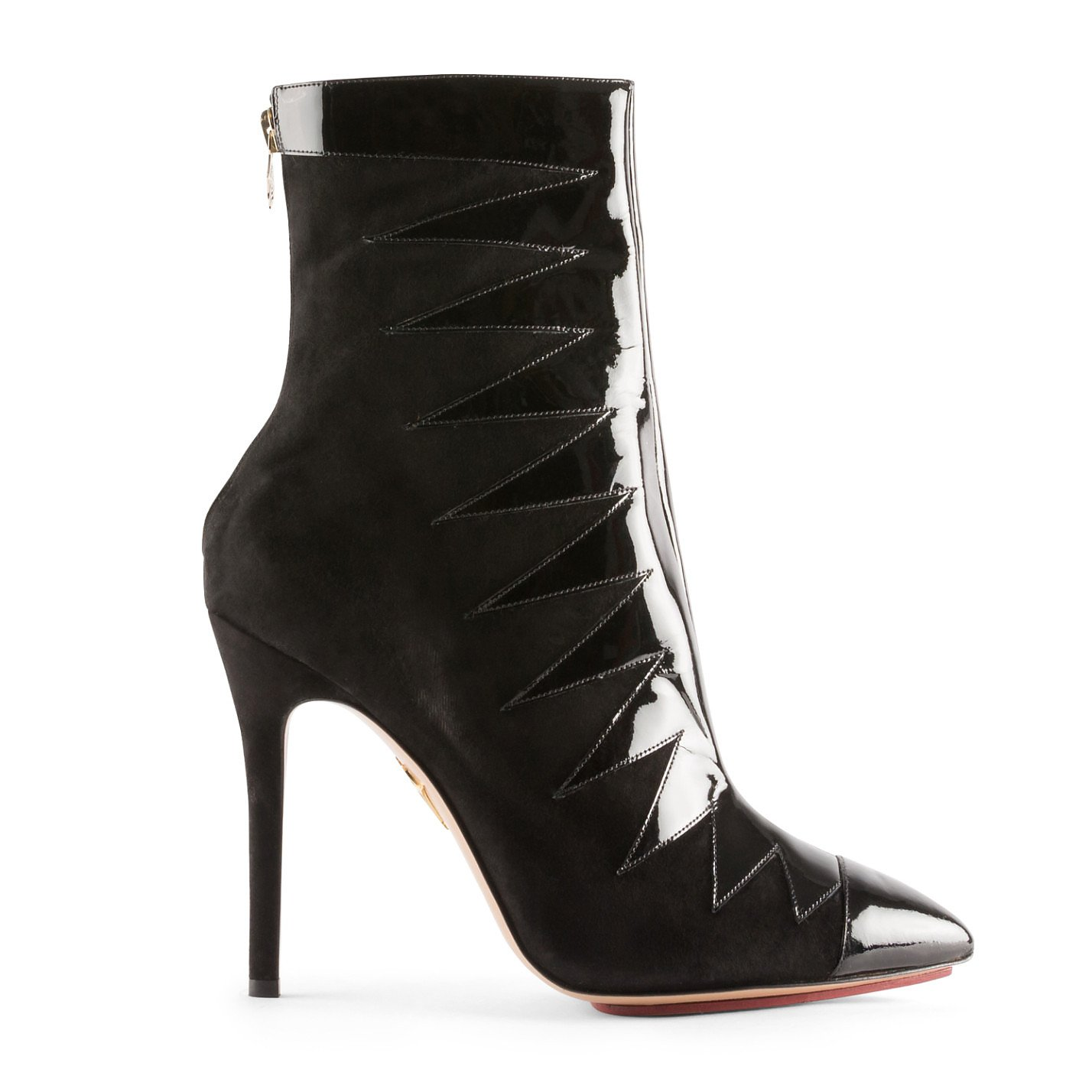 Charlotte Olympia Patent-Detail Ankle Boots