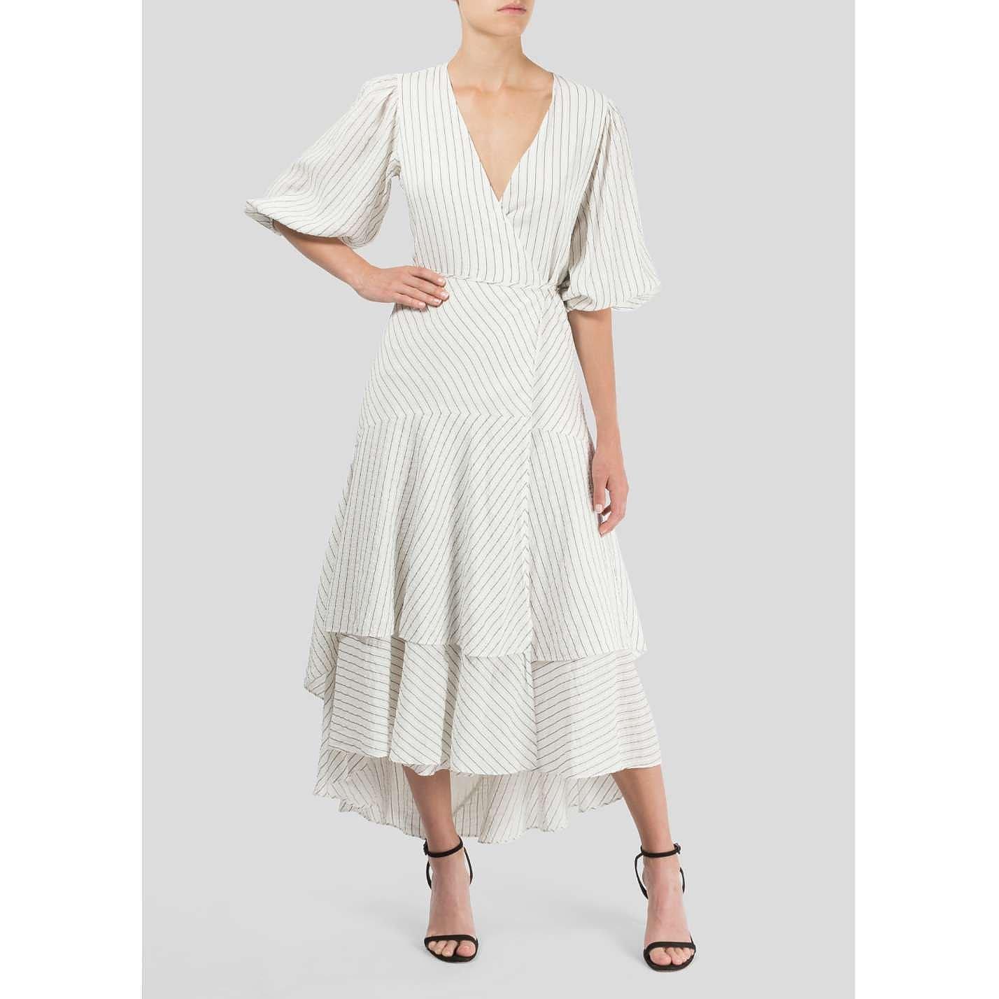 Ganni Wilkie Pinstripe Dress