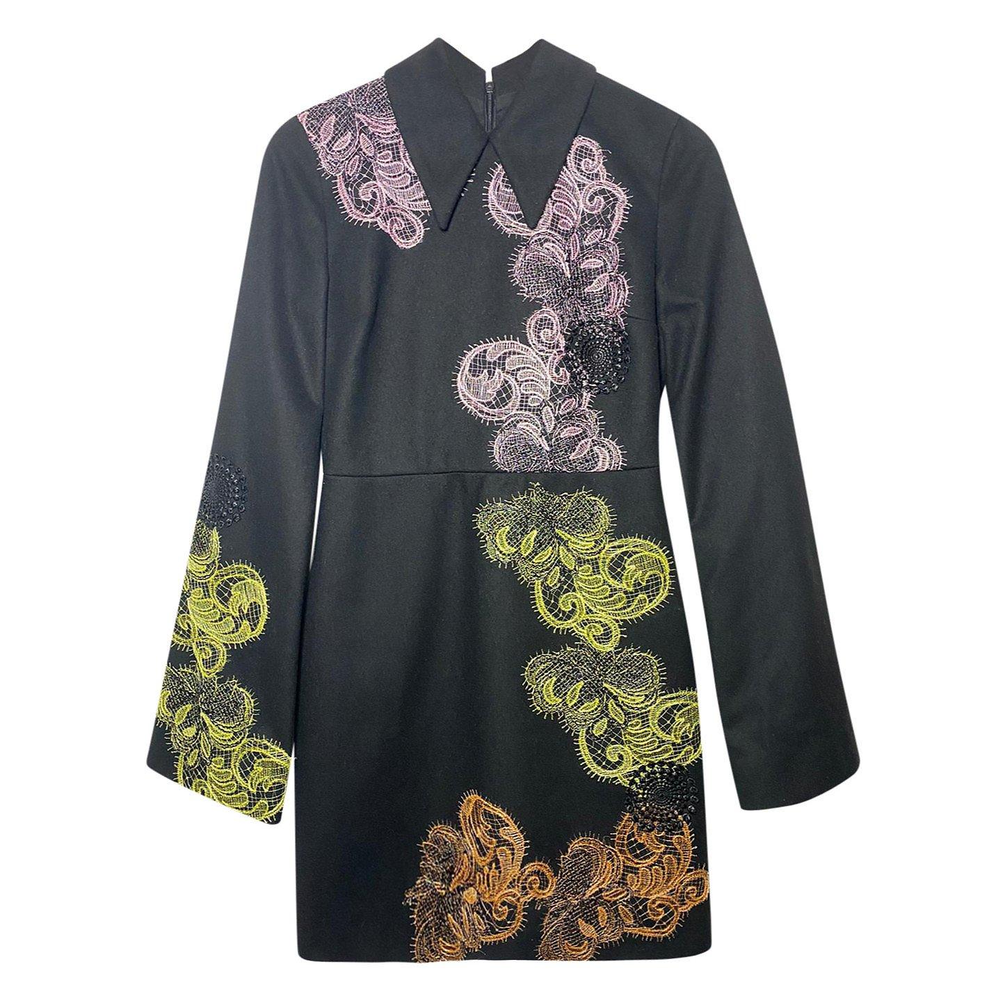 MSGM Multicolour Lace Appliqué Dress