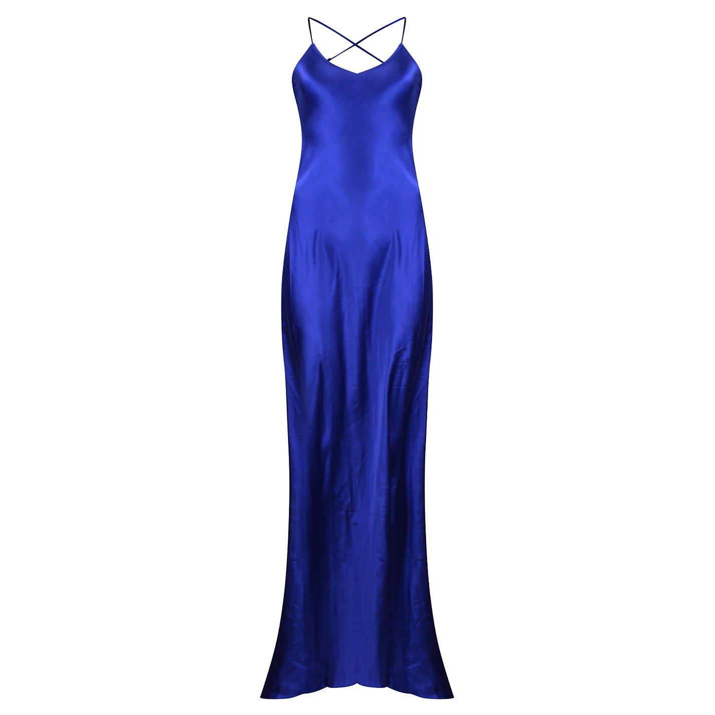 Olivia von Halle Perminova Silk Slip Dress