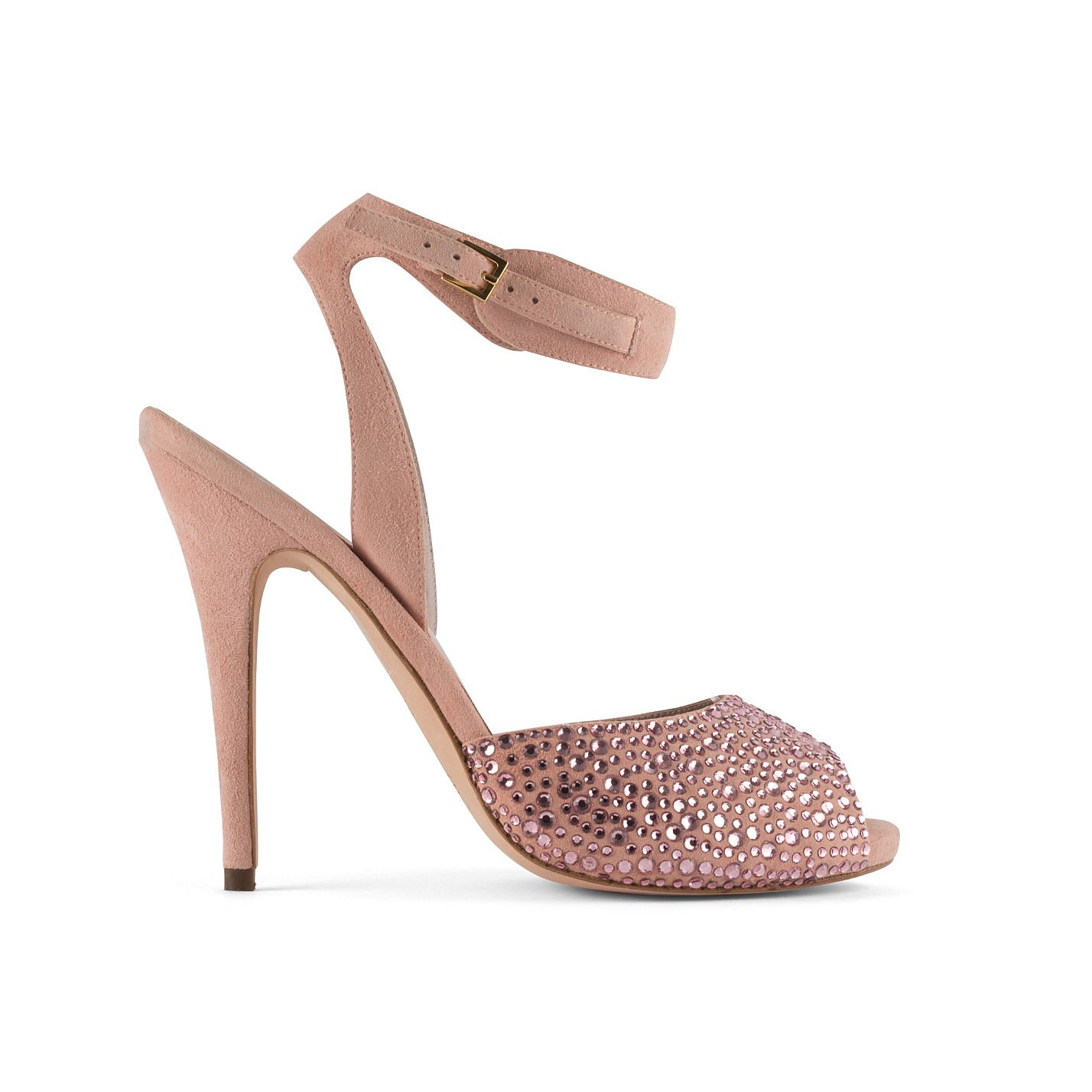 Elie Saab Embellished Suede Sandals