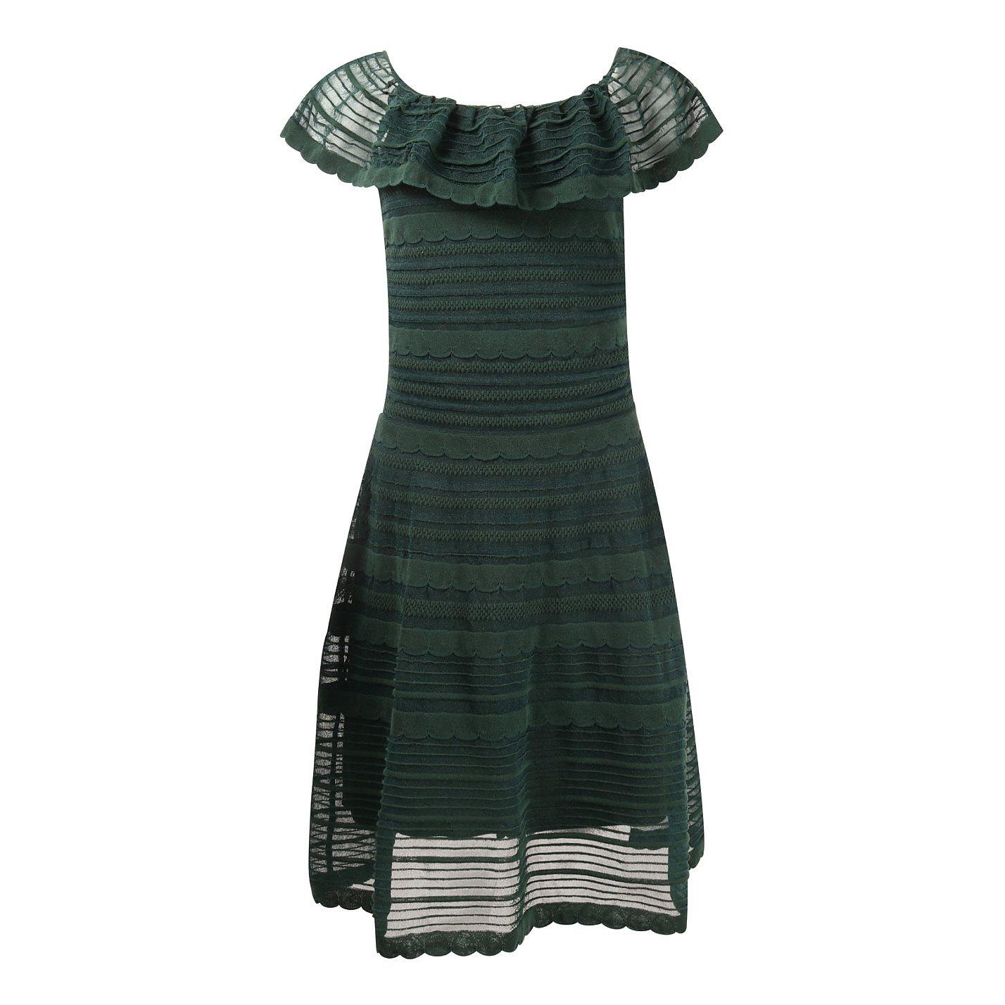 M Missoni Ruffled Woven Mini Dress