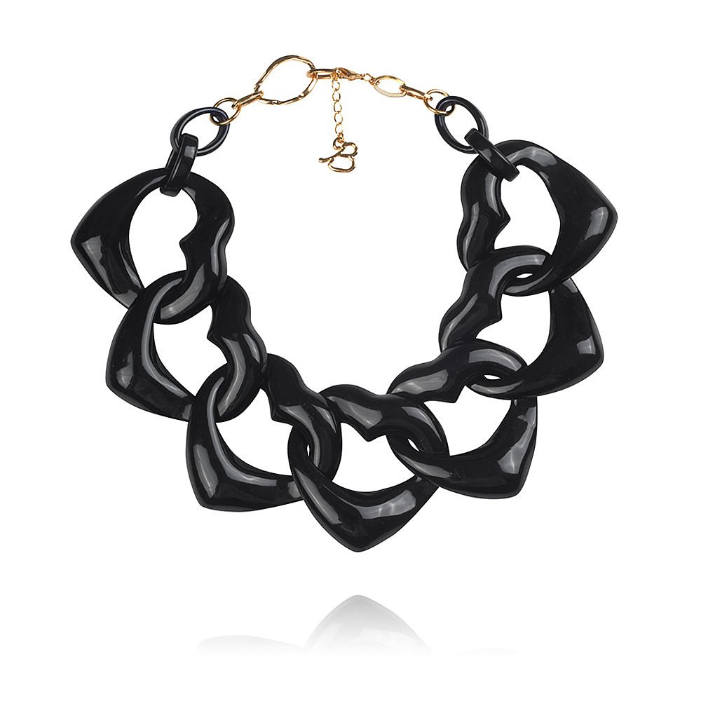 Diana Broussard Amore Necklace in Black