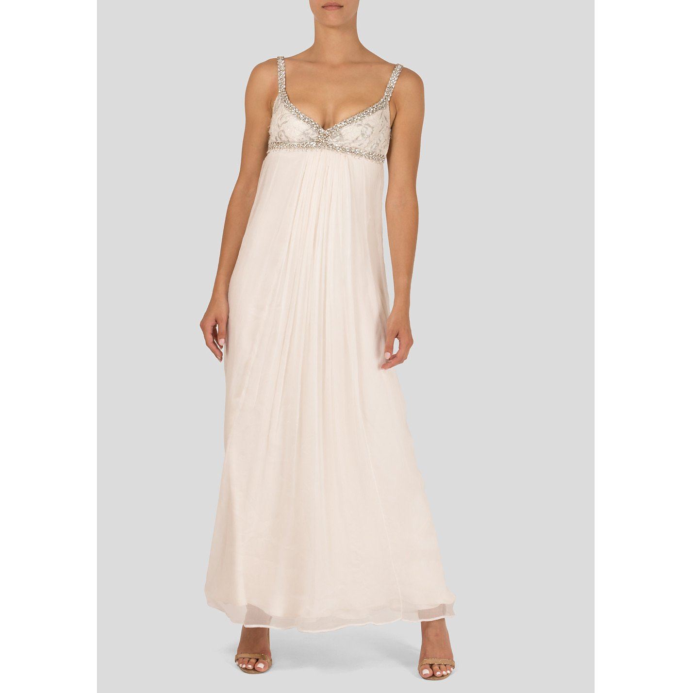 Collette Dinnigan Embellished Empire-Line Gown