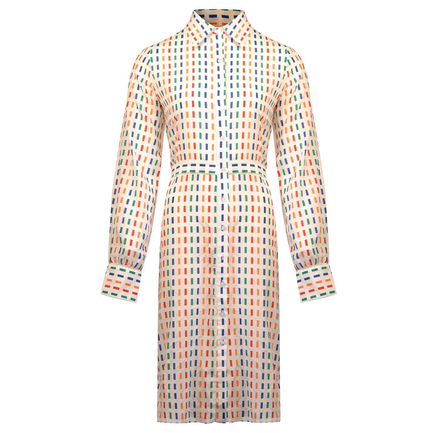 Lisou Sienna Rainbow Dash Print Midi Dress
